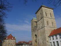 The city of osnabrueck in germany. The old City of osnabrueck in germany Stock Photos