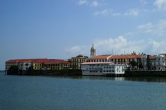 Old City Panama - view from water Royalty Free Stock Images