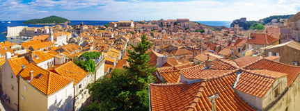Old City Panorama, Dubrovnik Stock Photography