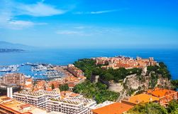 Old city peninsula with prince palace in Monaco Stock Photography