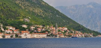 The old city of Perast. Photo of Perast  - Kotor Bay - Montenegro - July 2010 Stock Image
