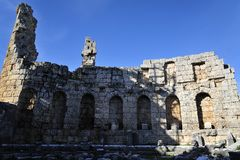 Old city Perga, Turkey. Perga or Perge (Greek: Πέργη Perge, Turkish: Perge) was an ancient Greek city in Anatolia, once the capital of Pamphylia Secunda Stock Image