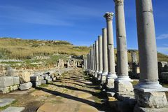 Old city Perga, Turkey. Perga or Perge (Greek: Πέργη Perge, Turkish: Perge) was an ancient Greek city in Anatolia, once the capital of Pamphylia Secunda Royalty Free Stock Photography