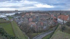 Old City of Petrovaradin Panorama, Novi Sad, Serbia Royalty Free Stock Photos
