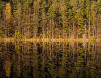 Autumn reflections in Finland. Nuuksio national park Stock Photography