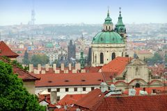 Old  city from Prague Castle Czech Republic Royalty Free Stock Photography