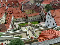 Old City of Prague. A view over Old City of Prague from the hill housing the castle Royalty Free Stock Photo
