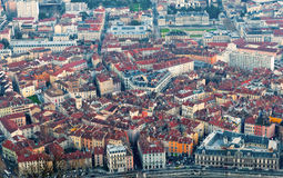 Old city quarter. The old city of Grenoble, France taken from the Bastille monument Stock Images
