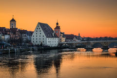 The old city of Regensburg, Germany Royalty Free Stock Images