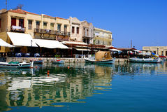 Old city of Rethymno. On Creta island, Greece stock photography