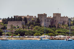 Old City of Rhodes Island, view from the sea Stock Photography
