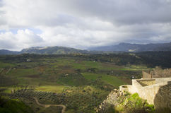 Old city of Ronda in Andalusia, Spain Royalty Free Stock Photos