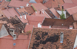 Old city roofs from above Royalty Free Stock Photography