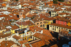 Rooftops of old city aerial view Royalty Free Stock Image