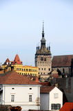 Old city rooftops Stock Photography
