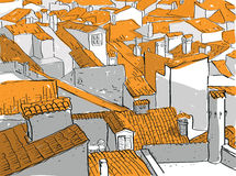 Old City Rooftops Royalty Free Stock Images