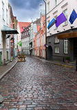 Old city's  streets after the rain. Tallinn. Eston Royalty Free Stock Photography