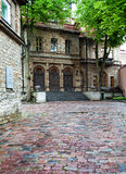 Old city's  streets after the rain. Tallinn. Royalty Free Stock Image