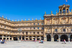 Old City of Salamanca. UNESCO World heritage. Plaza Mayor de Salamanca (Salamanca Major Square), Salamanca, Spain Stock Photo
