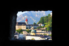 Old city of Salzburg. Royalty Free Stock Image