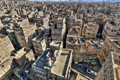 Old city of Sana'a Stock Photography