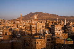 Old city of Sana in Yemen Royalty Free Stock Photos