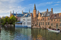Old City Scene in Bruges,Belgium stock photography