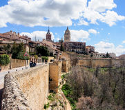 The old city of Segovia, Spain Royalty Free Stock Photography