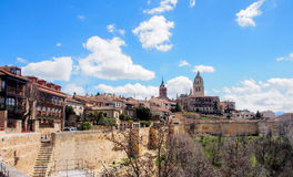 The old city of Segovia, Spain Stock Images