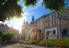 Old city square in Przemysl, Poland Royalty Free Stock Photography