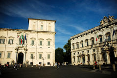 Old city square in Rome Stock Image