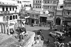 Old city Square of Udaipur Stock Photo