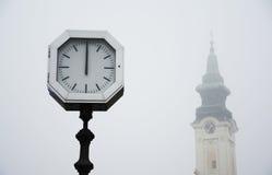 Old city street clock Stock Photos