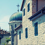 Old city street in Herceg Novi, Montenegro Royalty Free Stock Photography