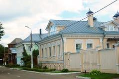 Old city street. Kremlin in Kolomna, Russia. Royalty Free Stock Image