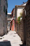Old city street, Montenegro Royalty Free Stock Images