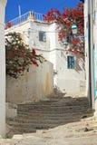 Old city street of Sidi Bou Said Royalty Free Stock Photo