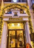 Old City Street Twinnings Tea Shop London England. Old City Street Twinnings Tea Shop Night London England Royalty Free Stock Images