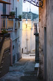 Old City streets exterior detail in the evening in europe italy Stock Photo