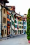 Old city in summer 2014 Schweiz Royalty Free Stock Images