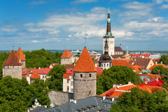 Old City of Tallin in summer Stock Images