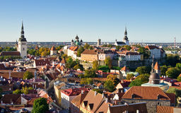 Old city of Tallinn Royalty Free Stock Images