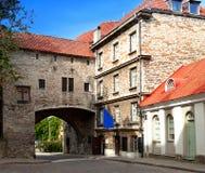 Old city in Tallinn, Estonia. Big Sea gate Stock Images