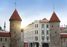 Old City. Tallinn, Estonia the entrance from the Viru Gate Stock Photo