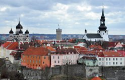 Old city in Tallinn, Estonia. Old city view in Tallinn, Estonia Royalty Free Stock Images
