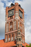 Old City Town Hall Gothic Tower in Torun Stock Photos