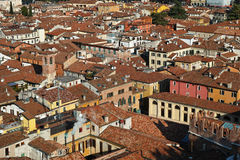 Old town houses city center aerial view Stock Image