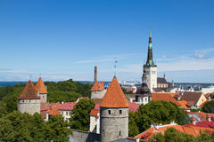 Old city town in Tallinn Royalty Free Stock Images