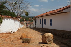 Old city. The old city of villa de leyva in colombia Stock Images