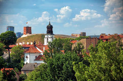 Old city of Vilnius in the summer. View on the Old city of Vilnius in the summer Royalty Free Stock Image